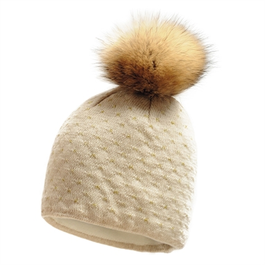Picture of Imagine Beanie Real Fur pom