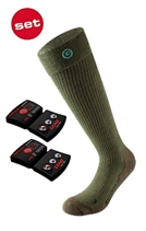 Picture of Lenz Heated Sock 3.0 Olive green +1200 Battery