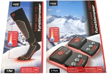 Picture of Lenz Heat Sock 1.0 Black/Red + 1200 Battery Set