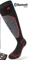Picture of Lenz Heated Sock 1.0 Black/Red + 1800 battery Set